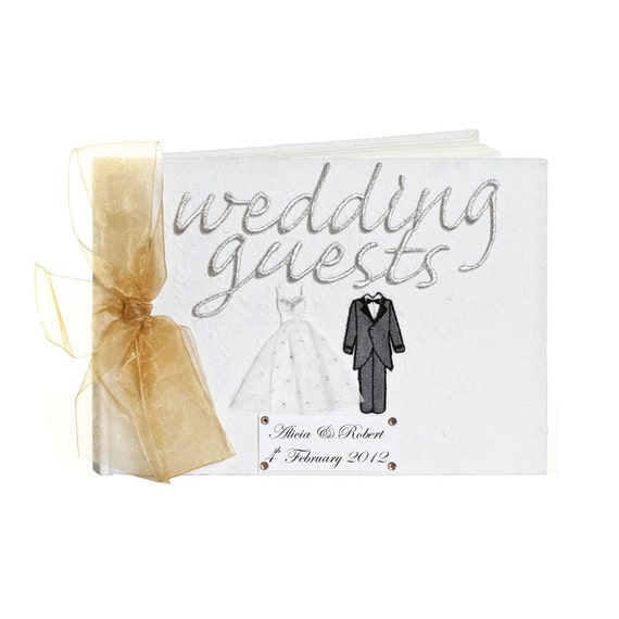 Wedding Gifts From Bride And Groom To Guests : Large Personalised Bride and Groom Wedding Guest Book