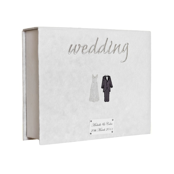 Personalised Bride and Groom Keepsake Box