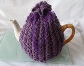 hand knitted tea cosy cosiewith  wool uk seller