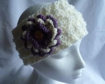 pdf knitting pattern flower power earwarmer headband