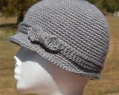 Crochet Cloche with bow and band accents - many colors to choose from - adult size only