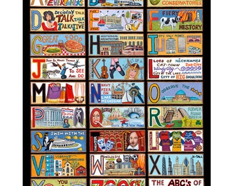 The ABC's of Chicago Notecards