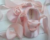Pink Ballet Shoes, Baby Girl Ballet Shoes, Flats,Flower Girl Shoes, Toddler Ballet Flat, Bobka Shoes by BobkaBaby