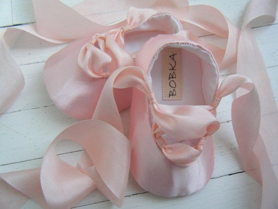 Pink Ballet Shoes Baby Girl Ballet Shoes FlatsFlower by