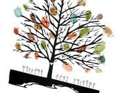 Welcome Baby Shower Fingerprint / Thumbprint Tree Guest Book - DIGITAL FILE