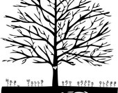 RESERVE LISTING for Alice - Student and Teacher Fingerprint / Thumbprint Tree - DIGITAL