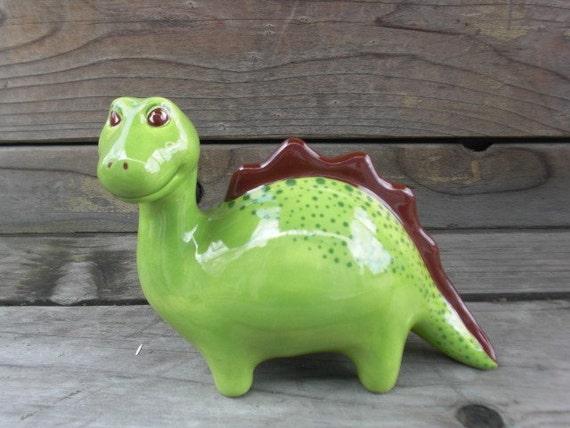 Adorable Ceramic Brontosaurus Dinosaur Bank Reserved For