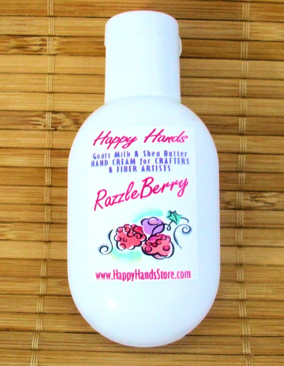 SALE - RazzleBerry Hand Cream for Knitters - Refillable 1oz Tottle Happy Hands