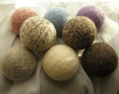 All Wool Eco Dryer Balls--NEW 8 Pack--Pink/Lilac/Sky Blue/Natural White/Oatmeal/Chocolate/Choc. Mix/Oat Mix