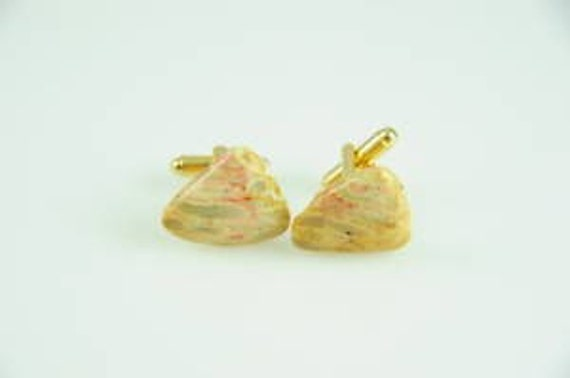 Indonesian Fossil Coral Cufflinks 23mm Beautiful and OOAK