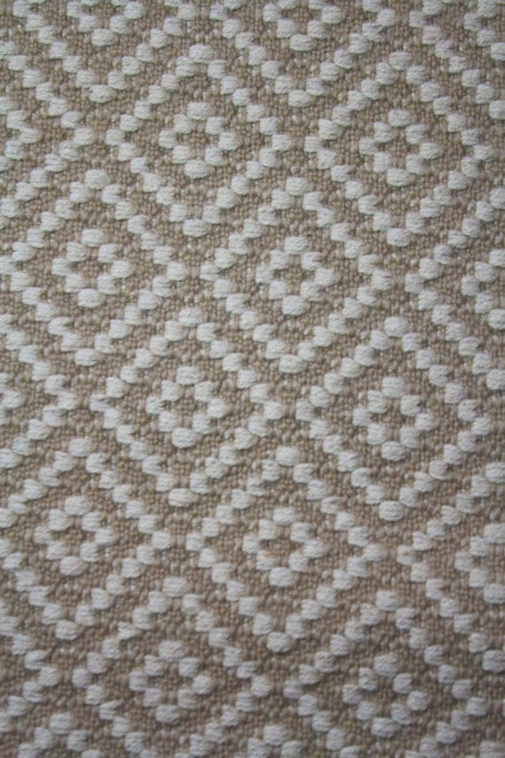 Long Handwoven Rug Wool Diamond Pattern 2 4 By