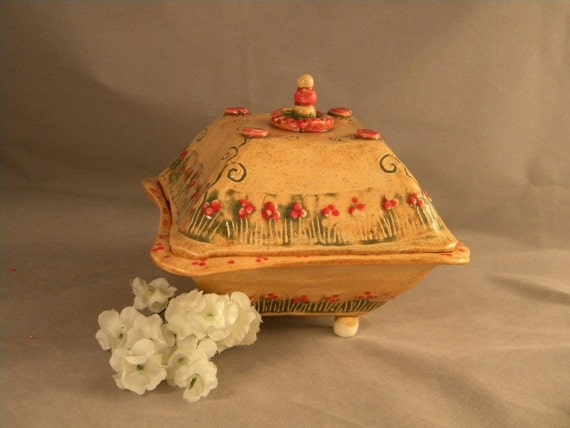 Treasure Chest in Orange and Red