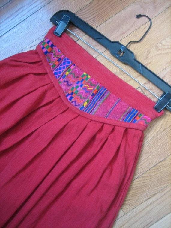 cotton boho skirt
