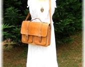 Leather Messenger Bag / Purse Top Grain Quality