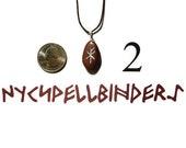 Bind Rune Necklace of Wealth Choose 1 of 2 Gemstones