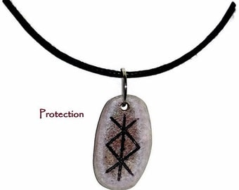 Protection Bone Bind Rune Necklace