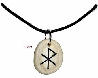 Love Bone Bind Rune Necklace