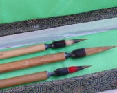 Chinese calligraphy 3 BRUSH set - Gold Feather products