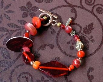Coat Check BRACELET Red Beads