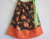 Fall Pumpkins Pillowcase Dress Available in sizes 3-6 mon,6-9 mon, 12 mon,18 mon, 2T,3T and 4T
