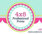 50 Professionally Press Printed 4x8 Service - Cardstock Cards with Envelopes - Fed Ex Overnight Standard