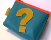 I got a Question VEGAN VINYL pouch