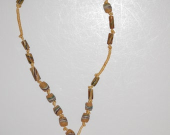 African Trade Bead Necklace