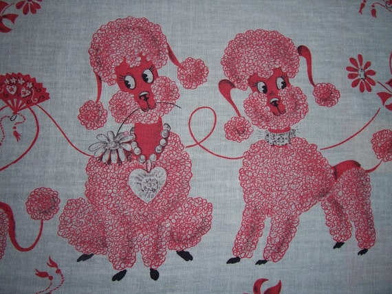 vintage poodle fabric with - photo #21