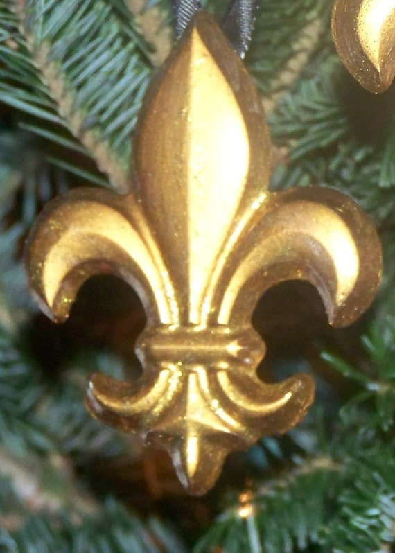 Items similar to gold fleur de lis ornaments wedding