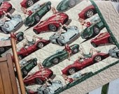 Sports Cars Quilt - Pin Up Girls - Fast Lane - Alexander Henry fabric