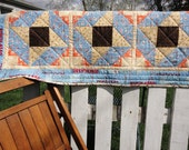 Cowboys Table Runner - Blue and Yellow Quilt