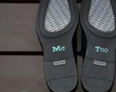 "BLUE Groom's ""Me Too"" Shoe Stickers"