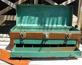 Vintage Industrial Steel Tool Chest