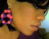 3D Baubles Lucite Beaded Earrings