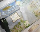 TYBEE ISLAND WEDDING Wedding Invitation Keepsake Box with Engraved Name Plate