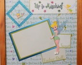 UP TO MISCHIEF Disney Tinkerbell Memory Album Page (Natural Veneer Shadow Box Frame Sold Separately)