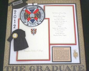 HAMPDEN SYDNEY COLLEGE Class of 2012 Graduation Shadow Box