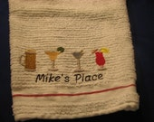 Embroidered Bar Towel
