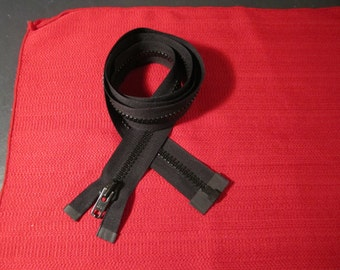 REDUCED///  49 inch heavy duty YKK black seperating zipper (126)