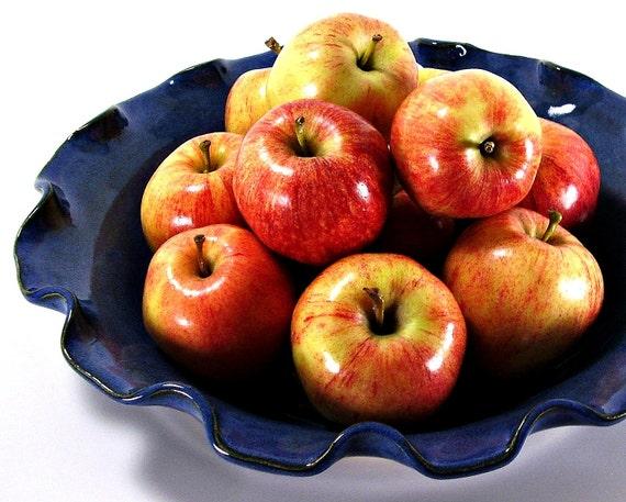 Reserved listing for Megan Levy large ceramic bowl serving bowl salad bowl pasta bowl fruit bowl Twilight Blue handmade stoneware pottery