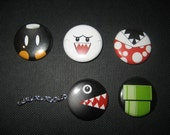 Super Mario Brothers 1 inch  button set A