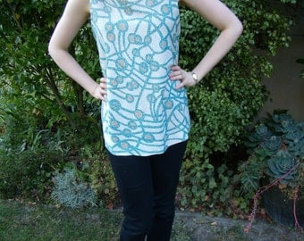 1960s Style Vintage Psychedelic Sparkle Top