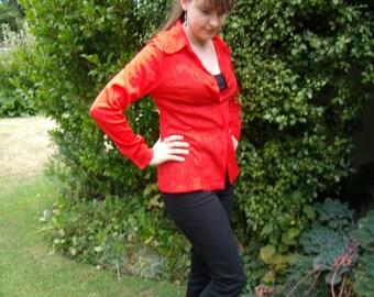 Orange 1970s Style Shirt