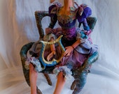 CUSTOME MADE porcelain doll Daina. one of a kind. EXAMPLE