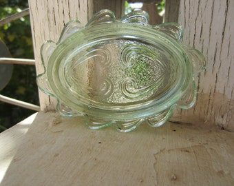 Vintage Green Glass Dish
