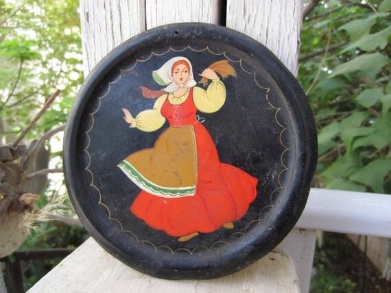 Vintage Folk Plate