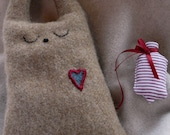 Gingerbread the lavender-filled Bunny with ickle hot water bottle