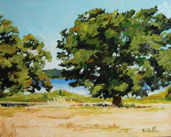 Oak Trees on Humphrey Lake