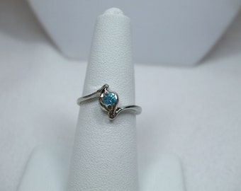 Vintage Birthstone Ring silver tone with colored rhinestone-Several Stones to Choose From