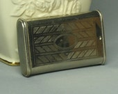 1940s AUTHENTIC Cigarette/secret money holder SILVER Plate from Mom